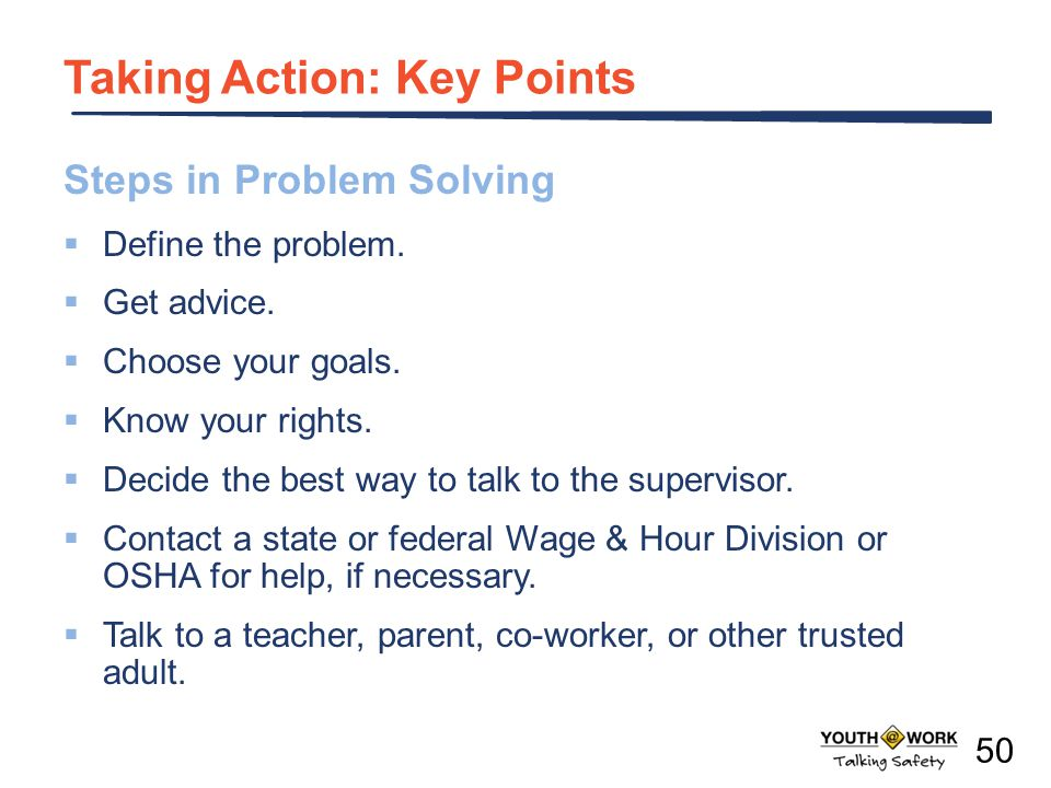 Taking Action: Key Points
