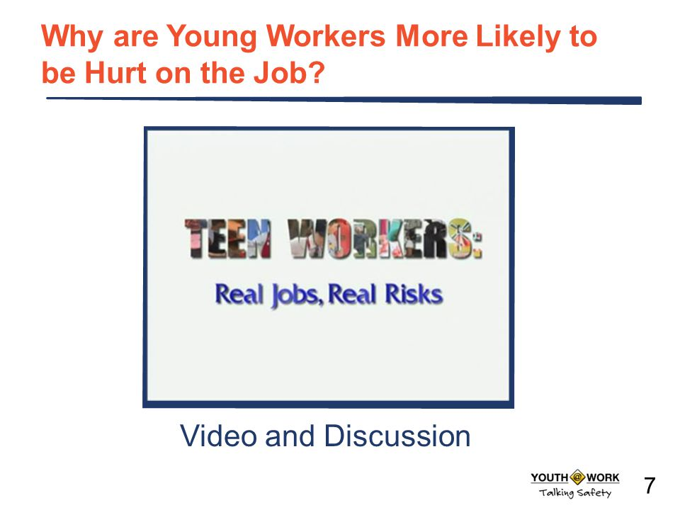 Why are Young Workers More Likely to be Hurt on the Job
