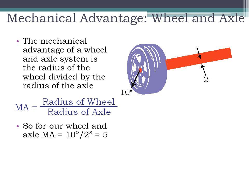 Mechanical Advantage: Wheel and Axle