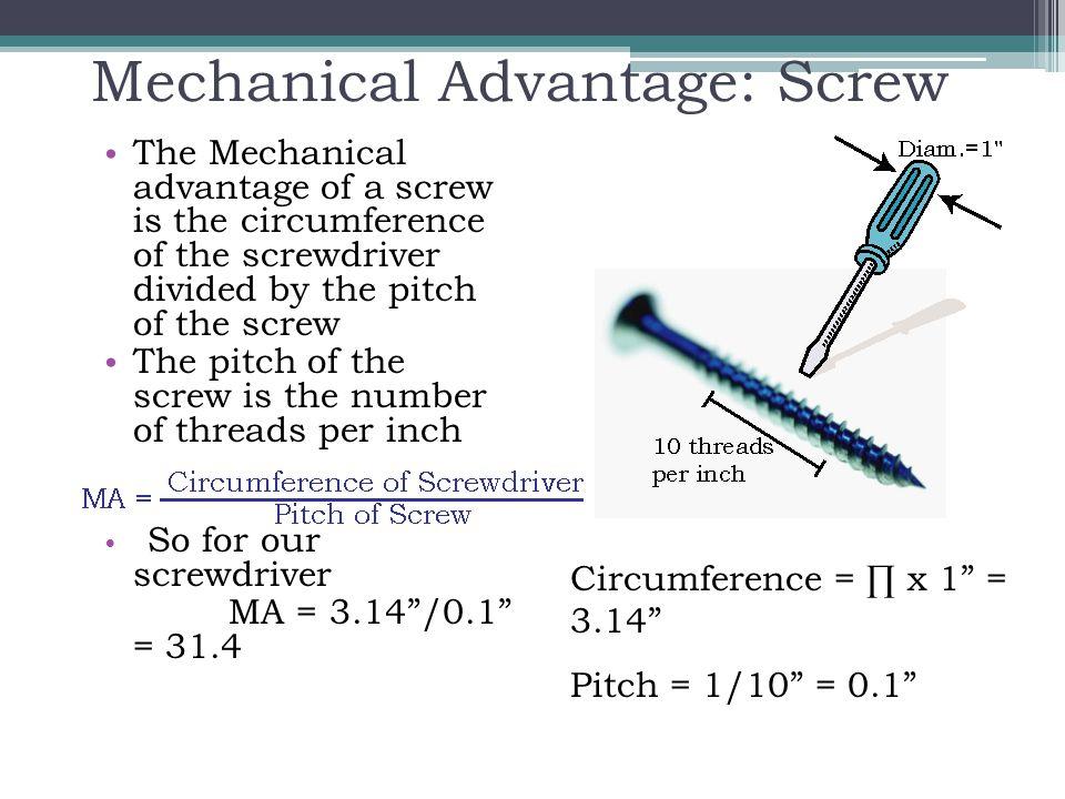 Mechanical Advantage: Screw