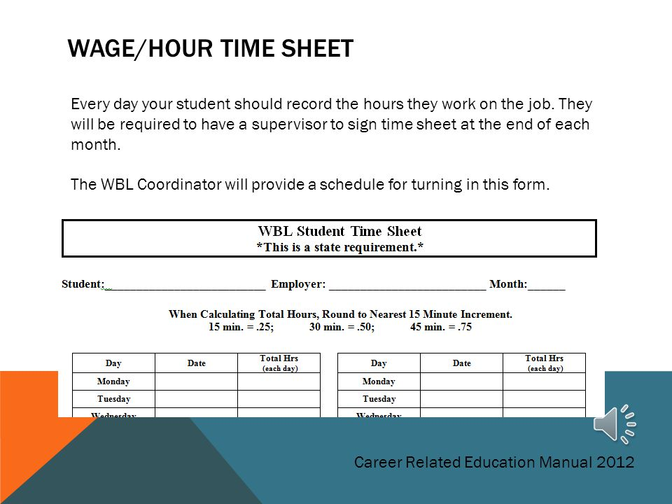 Wage/Hour Time Sheet