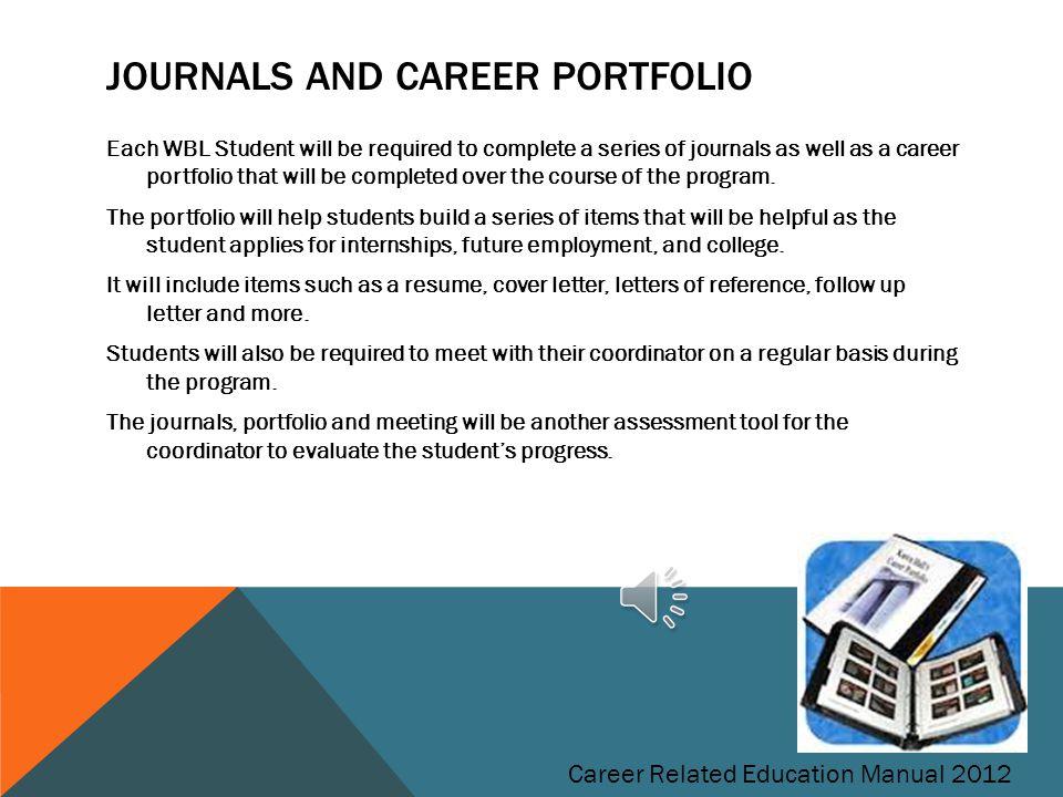 Journals and Career Portfolio