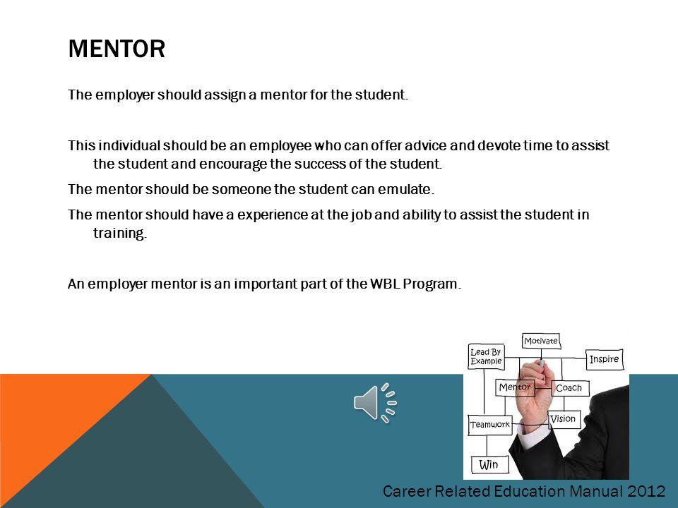 Mentor Career Related Education Manual 2012