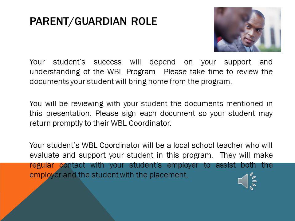 Parent/Guardian Role