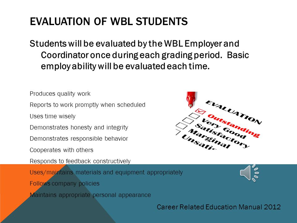 Evaluation of WBL Students