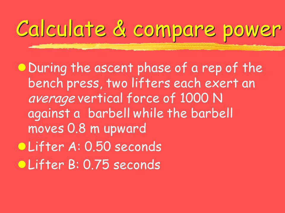 Calculate & compare power