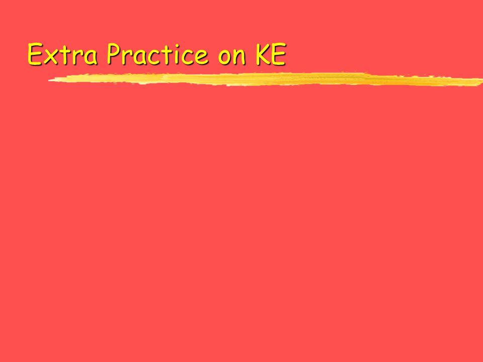 Extra Practice on KE