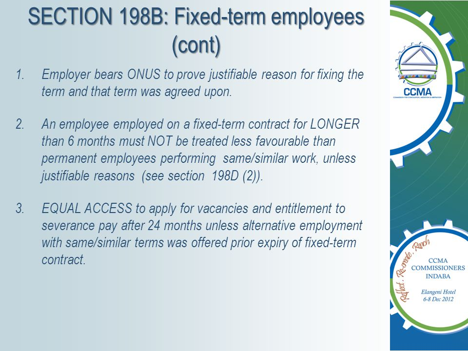 SECTION 198B: Fixed-term employees (cont)