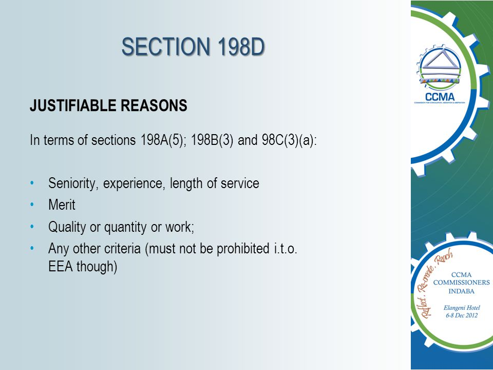 SECTION 198D JUSTIFIABLE REASONS
