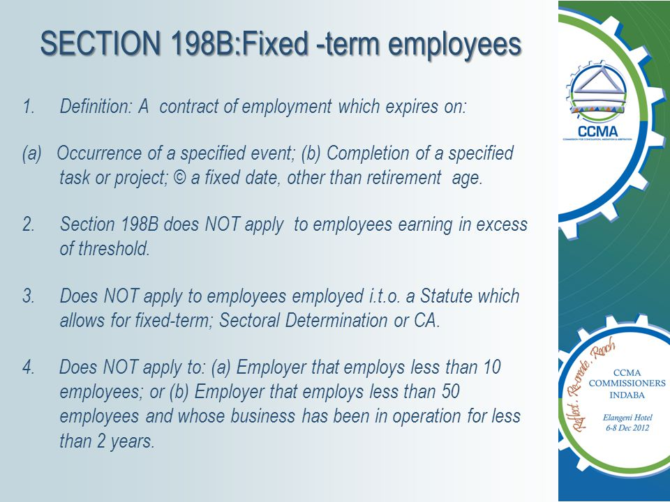 SECTION 198B:Fixed -term employees