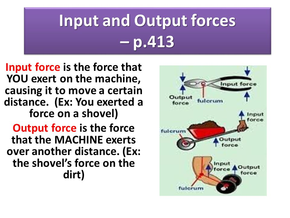 Input and Output forces – p.413