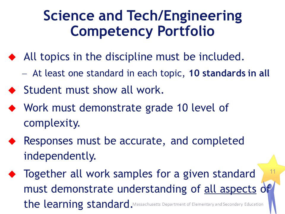 Science and Tech/Engineering Competency Portfolio