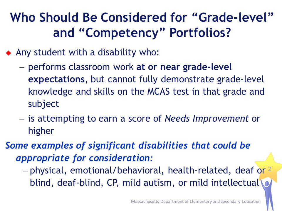 Who Should Be Considered for Grade-level and Competency Portfolios