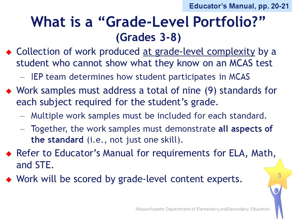 What is a Grade-Level Portfolio