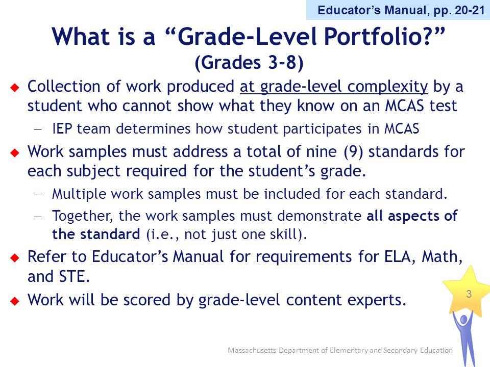 What is a Grade-Level Portfolio