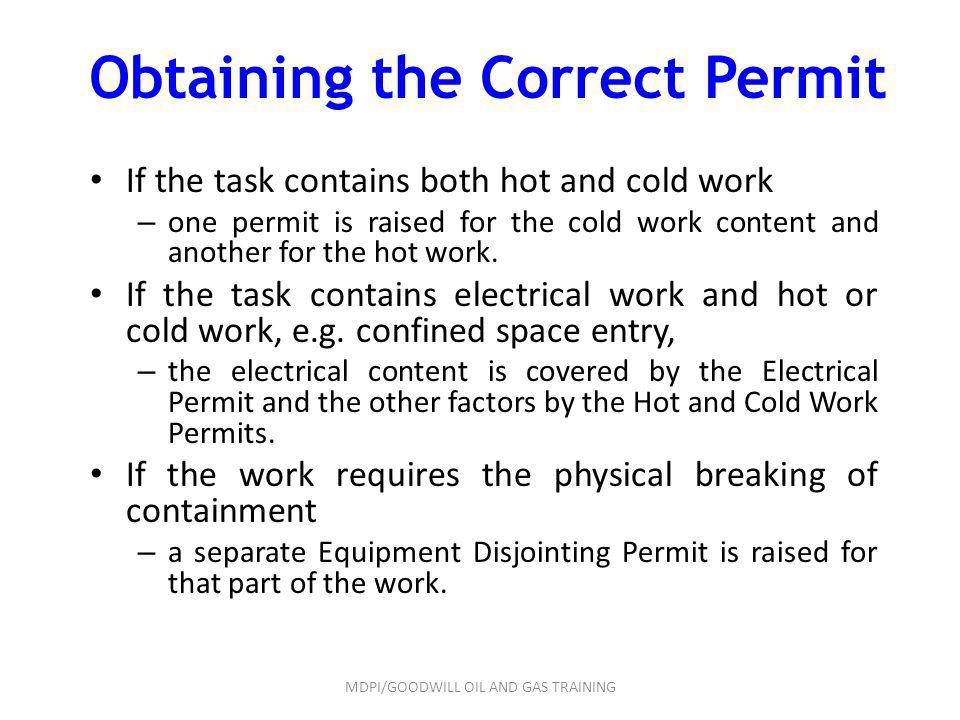 Obtaining the Correct Permit