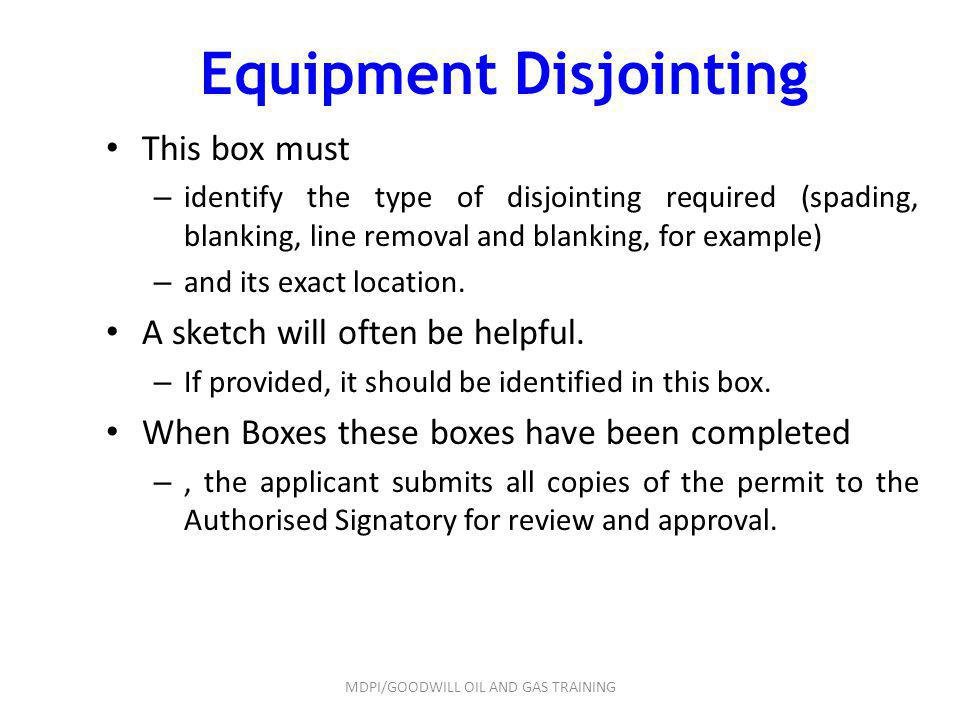 Equipment Disjointing