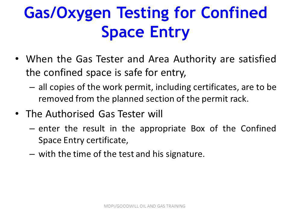 Gas/Oxygen Testing for Confined Space Entry