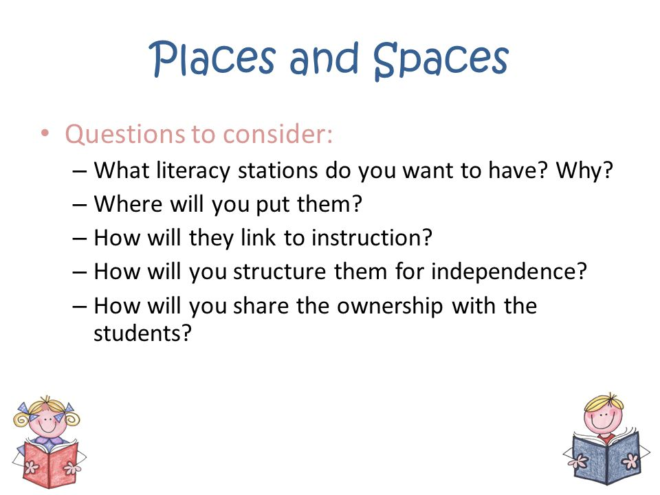 Places and Spaces Questions to consider: