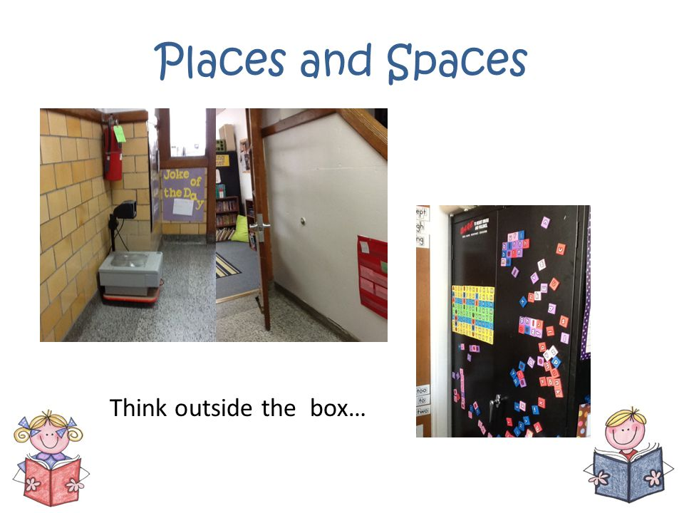 Places and Spaces Think outside the box…