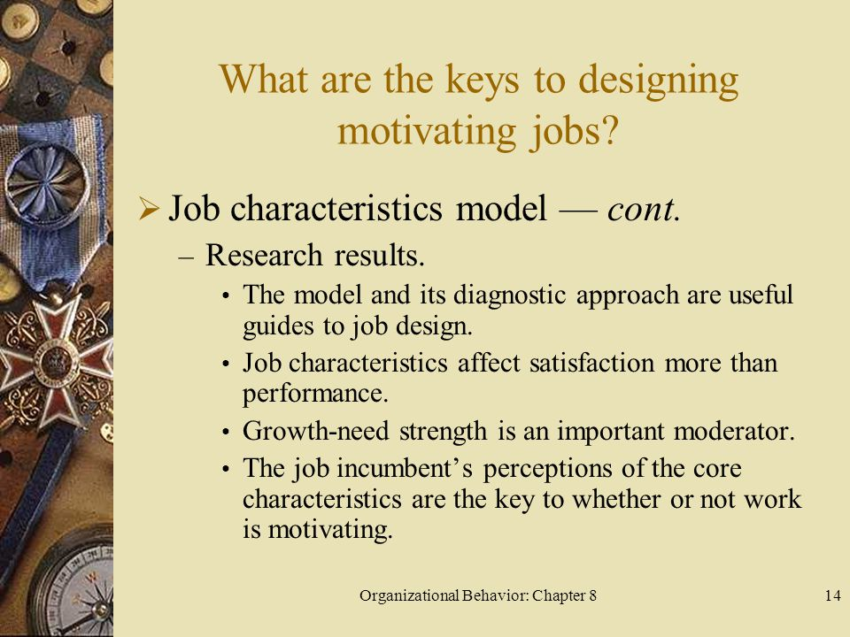 What are the keys to designing motivating jobs