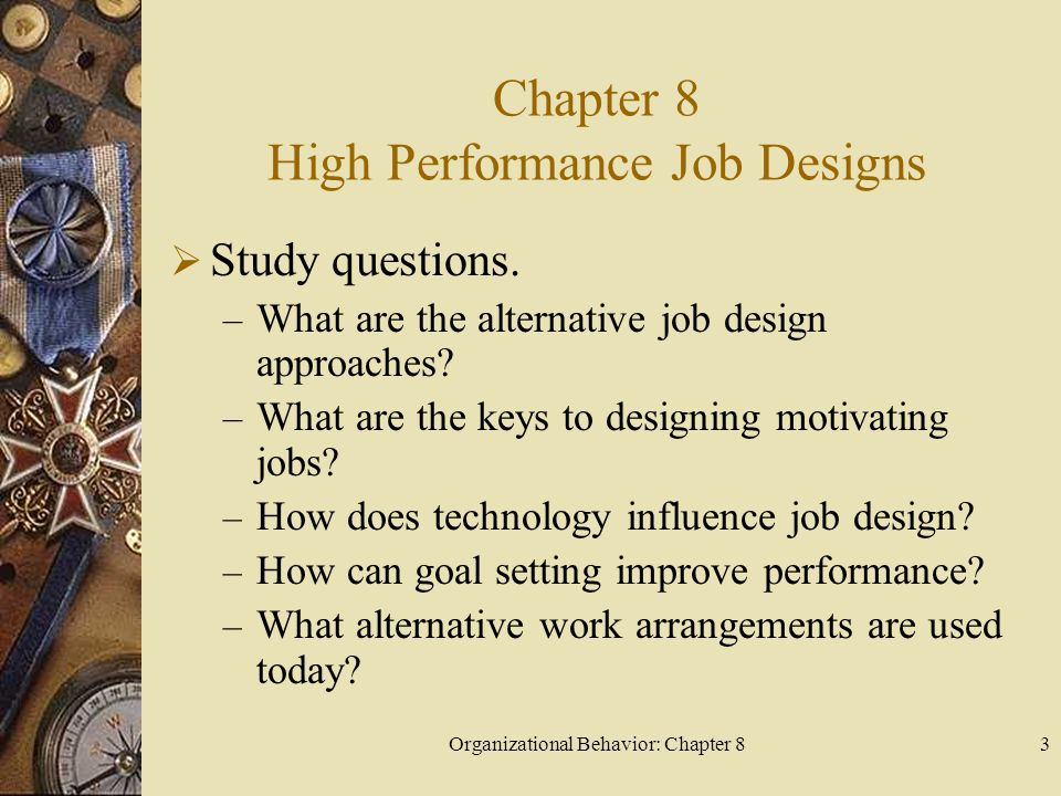 Chapter 8 High Performance Job Designs