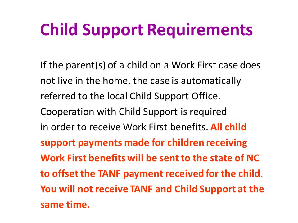 Child Support Requirements