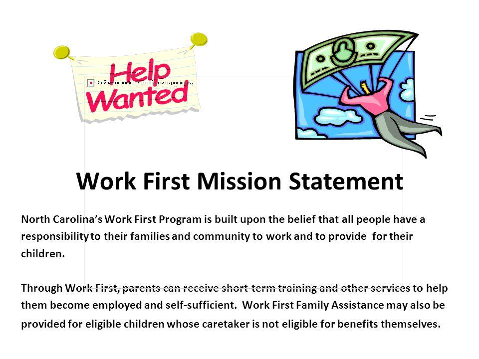 Work First Mission Statement
