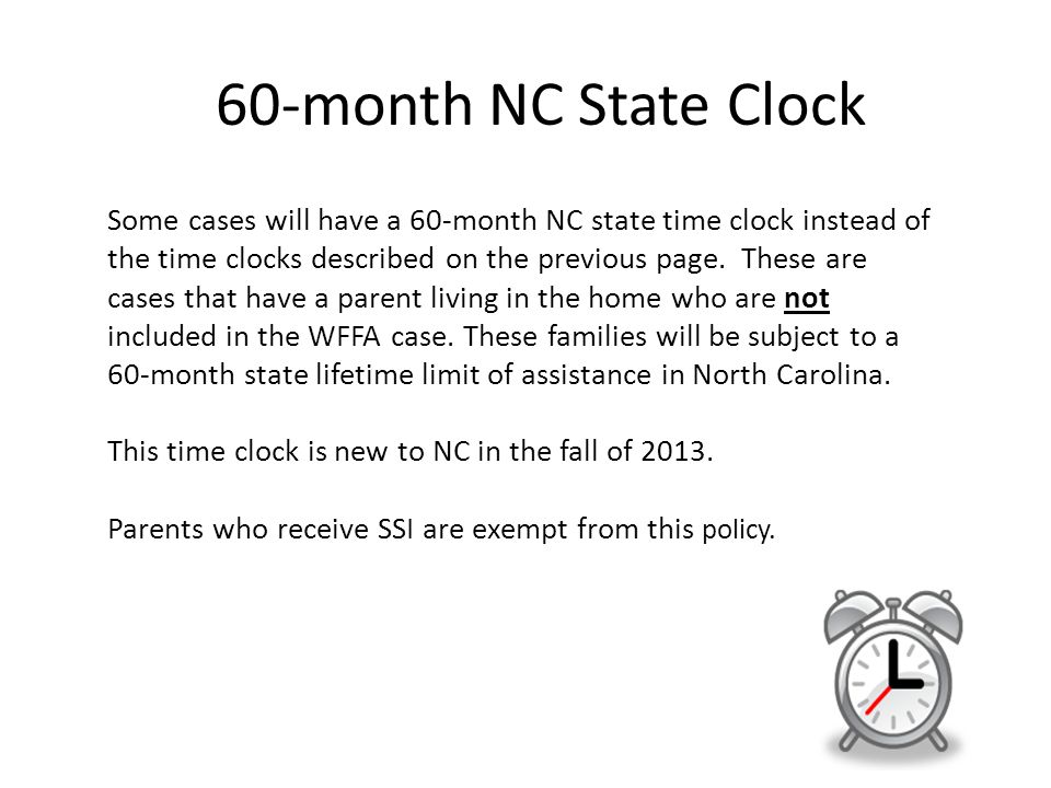 60-month NC State Clock