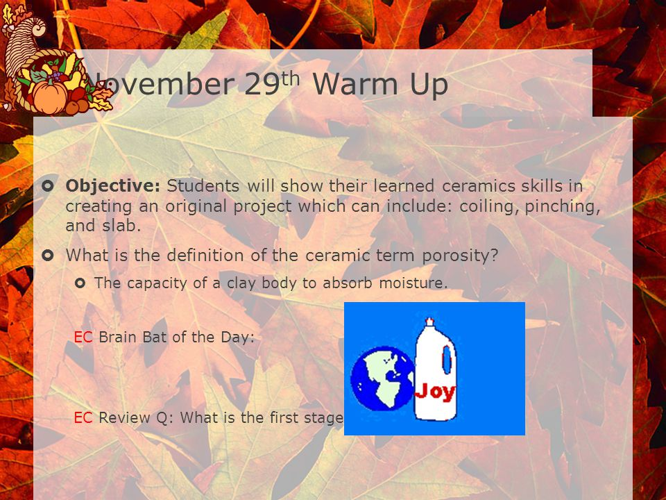 November 29th Warm Up