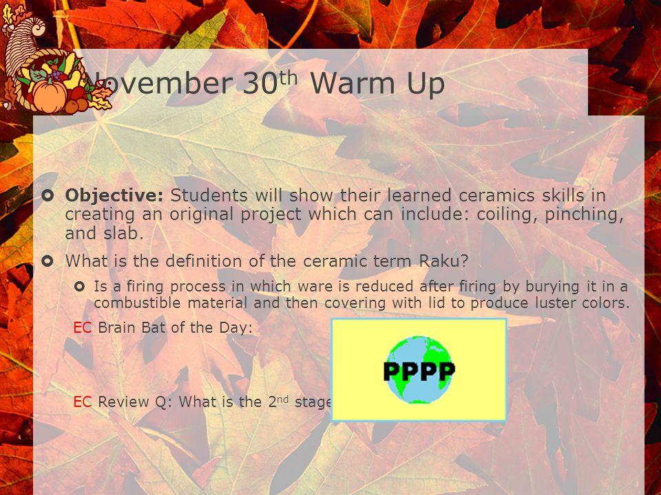 November 30th Warm Up