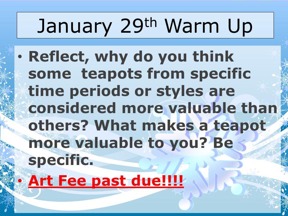 January 29th Warm Up