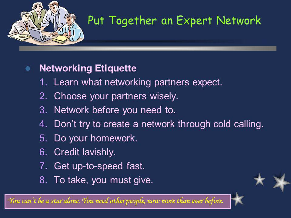 Put Together an Expert Network