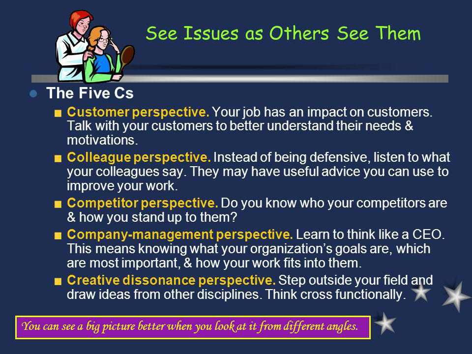See Issues as Others See Them
