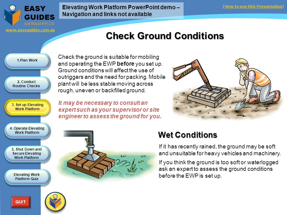 Check Ground Conditions