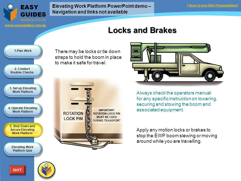 5. Shut Down and Secure Elevating Work Platform