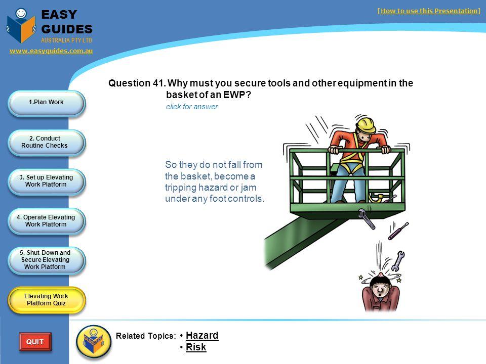 Elevating Work Platform Quiz
