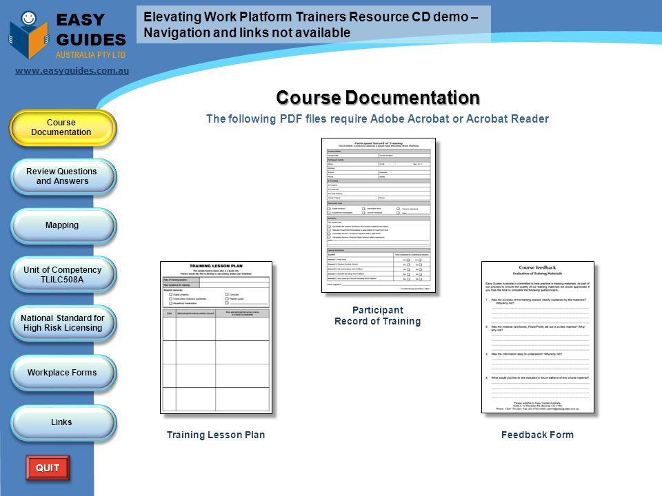 Course Documentation EASY GUIDES
