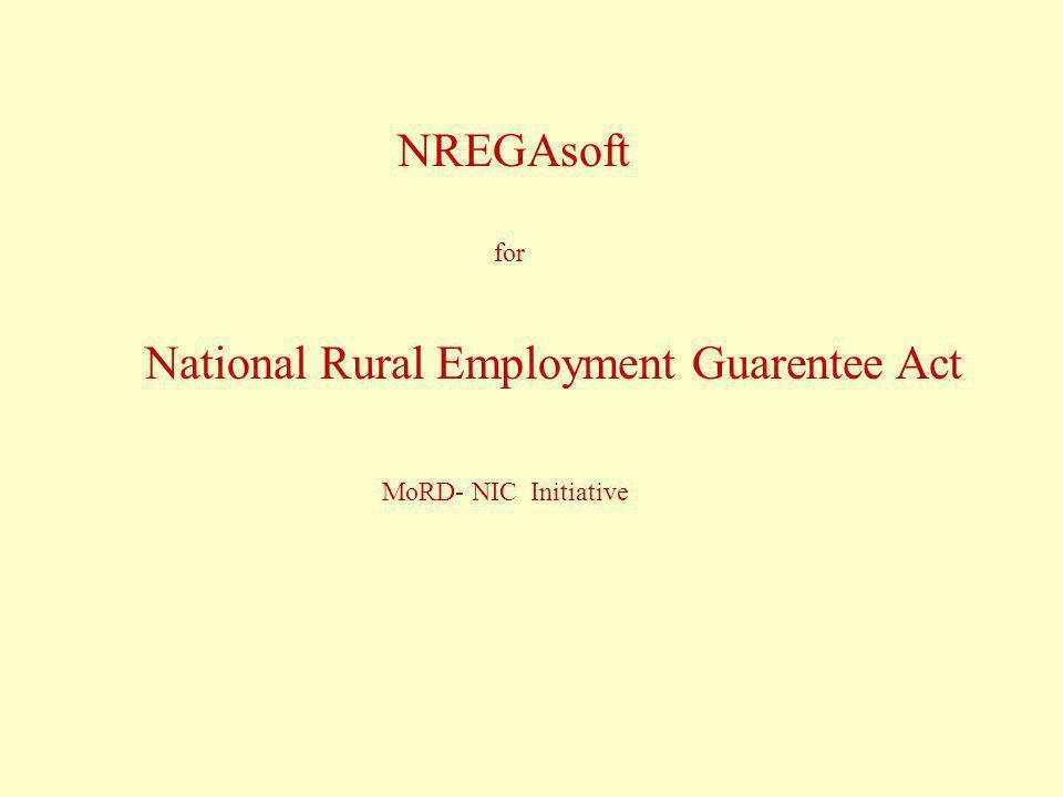 National Rural Employment Guarentee Act