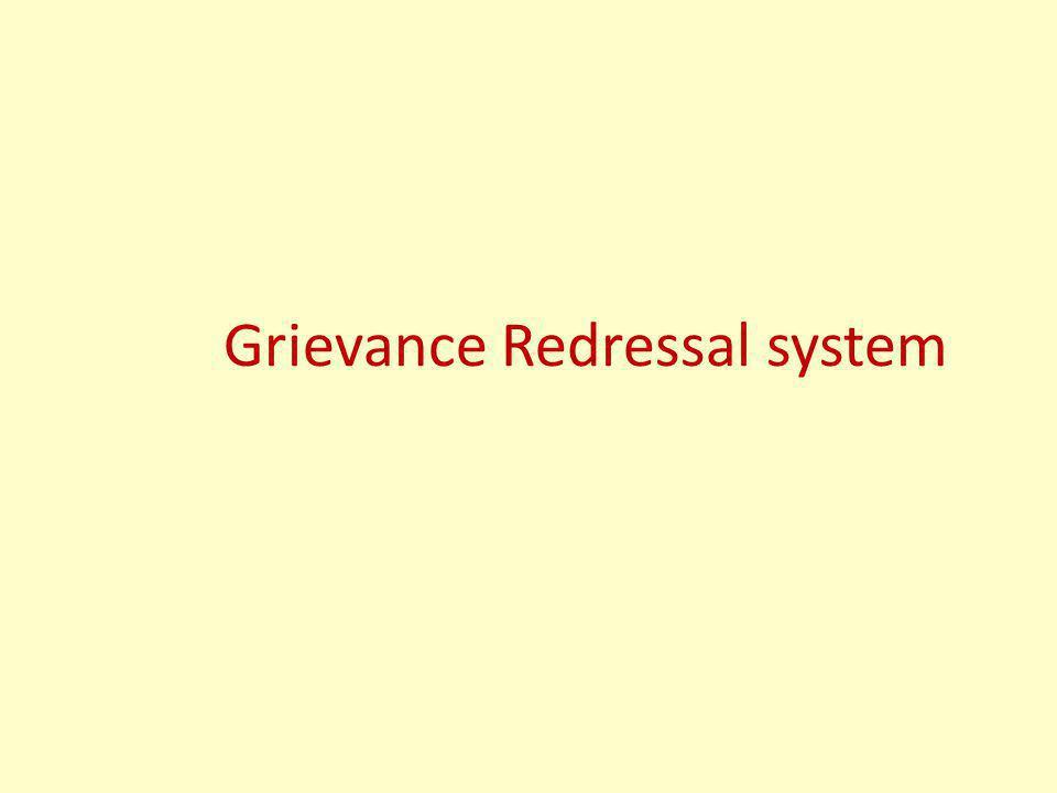Grievance Redressal system