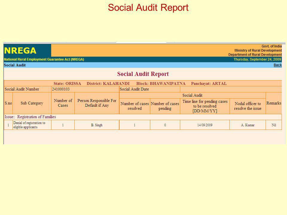Social Audit Report