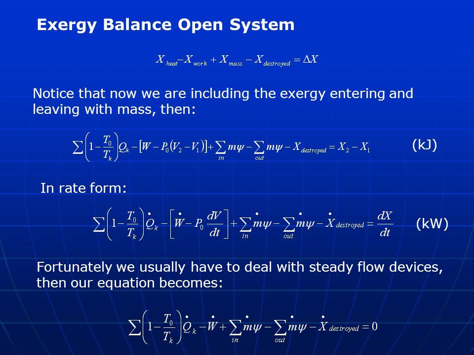 Exergy Balance Open System
