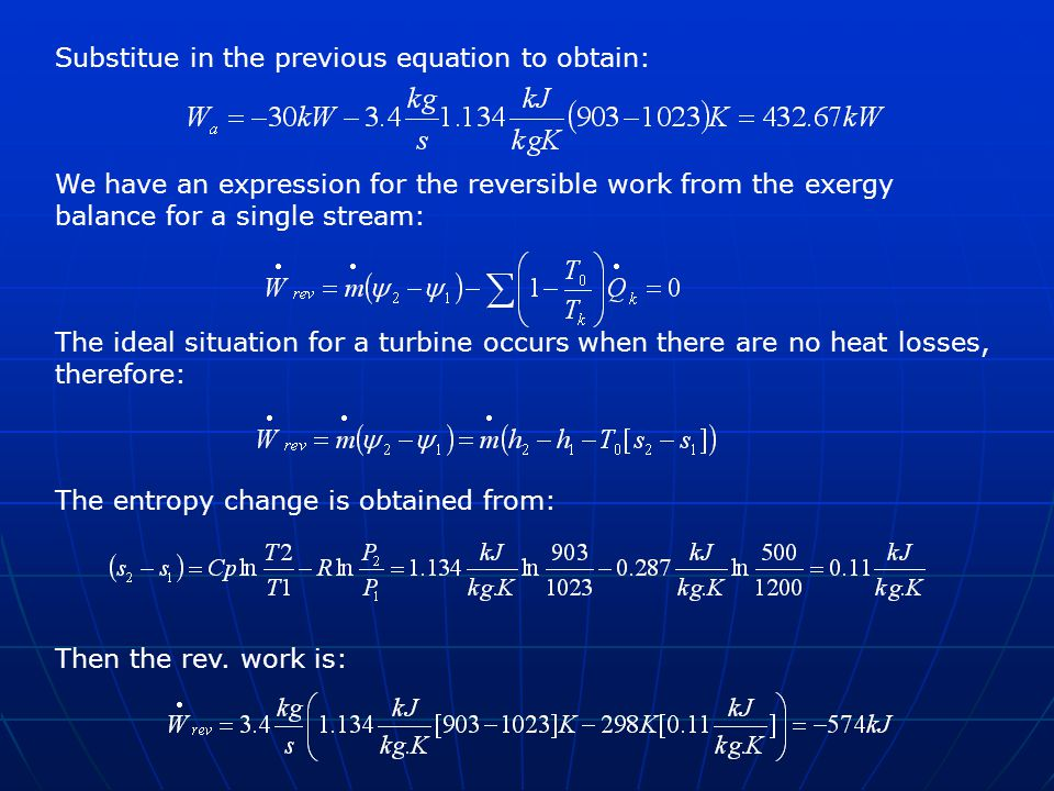 Substitue in the previous equation to obtain: