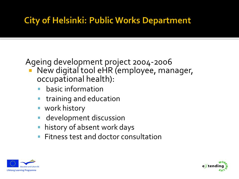 City of Helsinki: Public Works Department