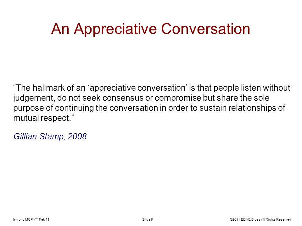 An Appreciative Conversation