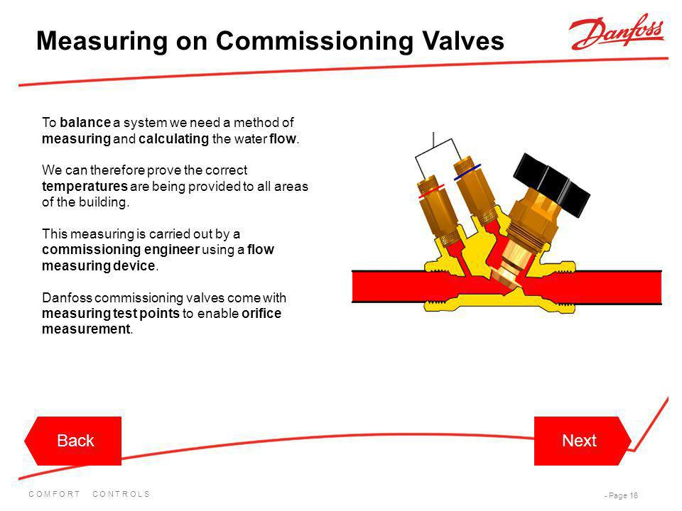 Measuring on Commissioning Valves