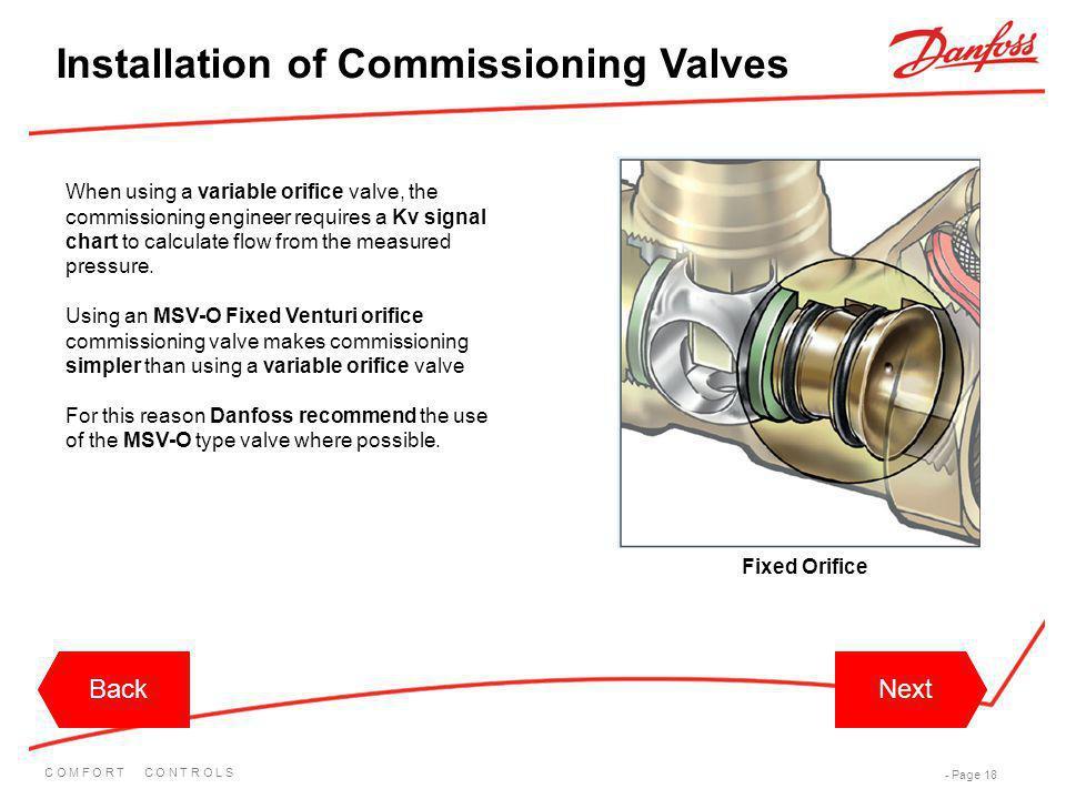 Installation of Commissioning Valves