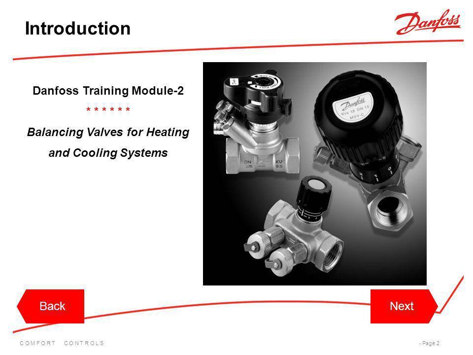 Introduction Danfoss Training Module-2 * * * * * *