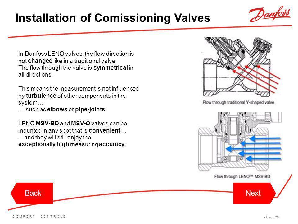 Installation of Comissioning Valves