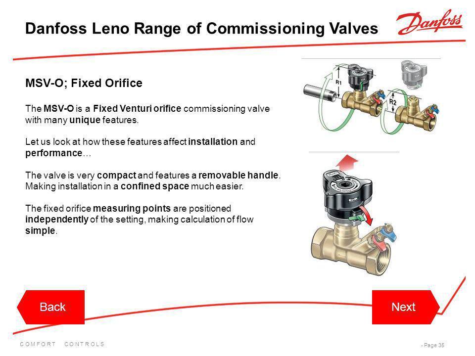 Danfoss Leno Range of Commissioning Valves